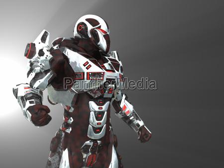 futuristische kampfroboter