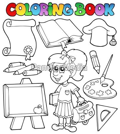 coloring book school topic 2