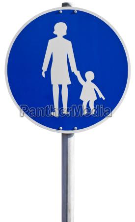 sign for sidewalk
