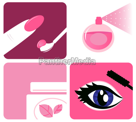 beauty cosmetic and makeup icons isolated