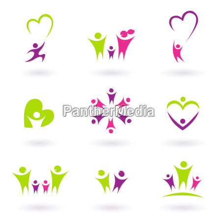 family relationship and people icon collection