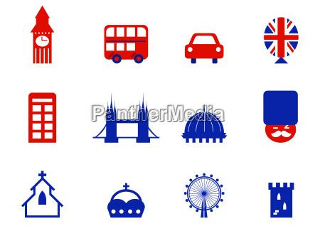 london amp english icons and design