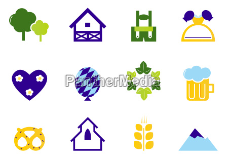 germany amp octoberfest icons and symbols
