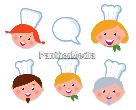 cute cooking and icons set