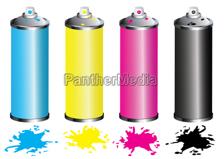 spray cans cmyk