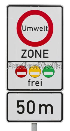 umweltzone german traffic sign clipping