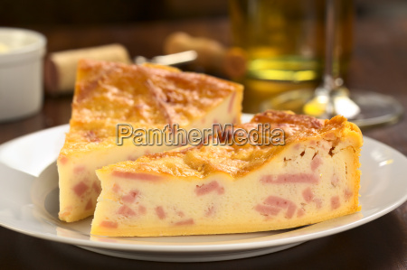 cheese and ham quiche