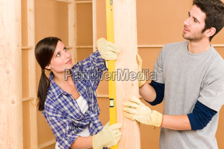 home improvement smiling couple with spirit