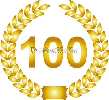 goldener lorbeerkranz 100 jahre