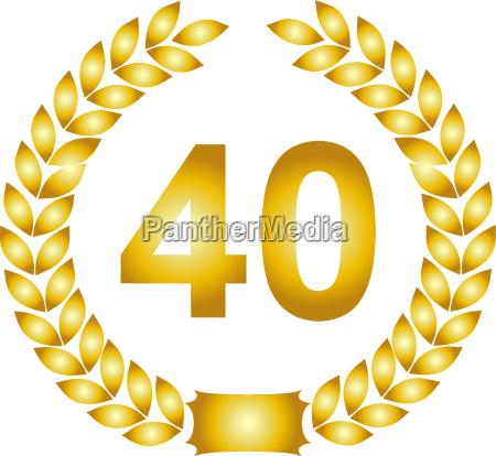 goldener lorbeerkranz 40 jahre