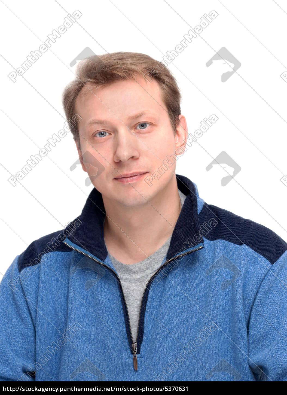 Portrait Schöne Blonde Männer Lizenzfreies Bild 5370631