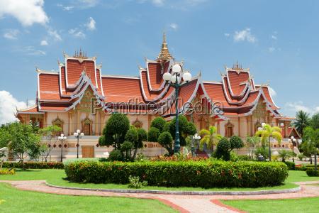 buddhistische architektur vientiane