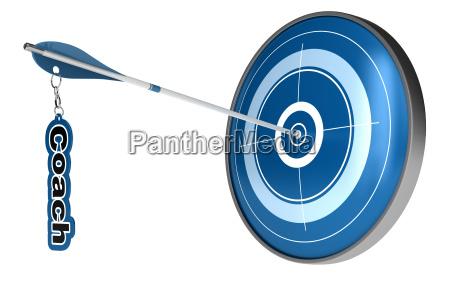 personal coach target arrow