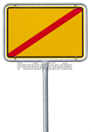 german town sign with clipping path