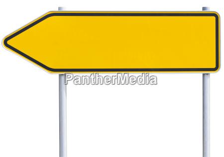 blank traffic sign left arrow