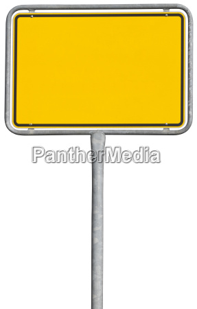 yellow placement sign clipping path included