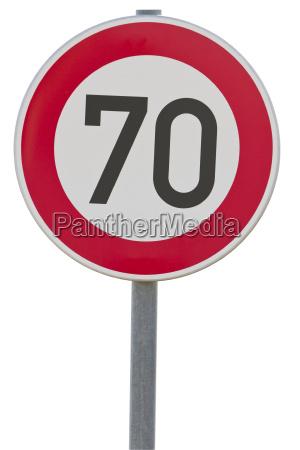 german speed limit sign 70