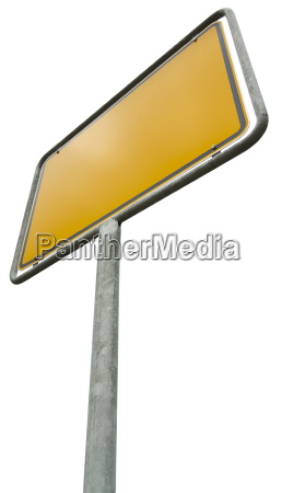 german placement sign isolated with clipping