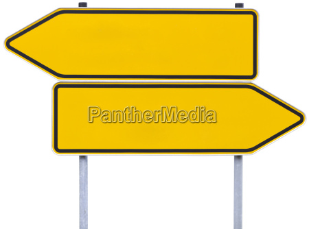 german direction signs with clipping path