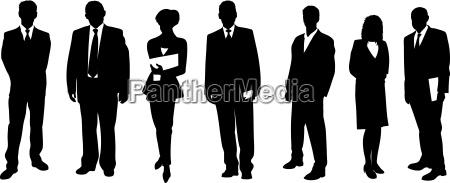 menschliche silhouetten