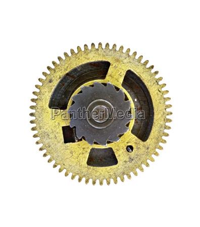 cogwheels gears on white background