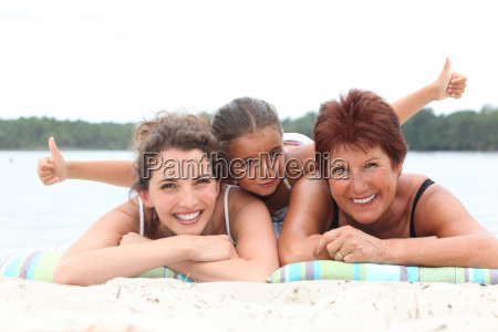 three generations grandmother mother and