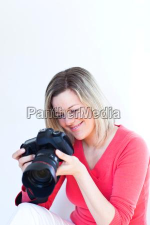 frau lebensstil weiblich foto fotocamera fotoapparat