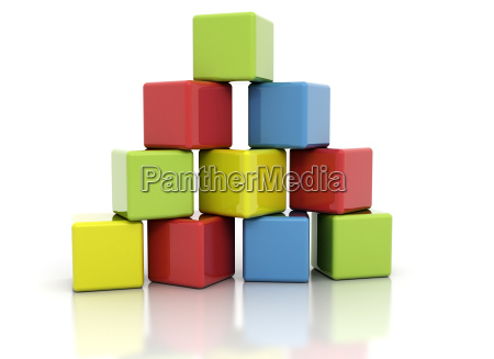 colorful building blocks stacked