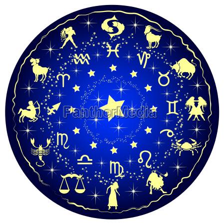 sternzeichen scheibe horoskop