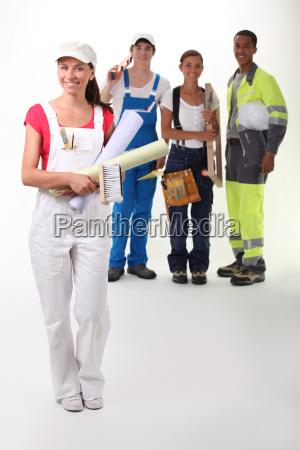 a happy apprentice building craft team