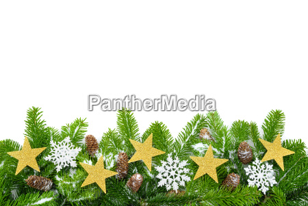 decorated pine branches with lots of