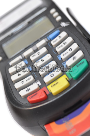 credit card reader isolated against white