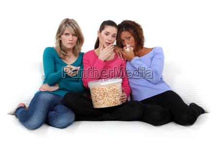 trio of girls crying over sad