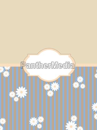 vintage floral background label