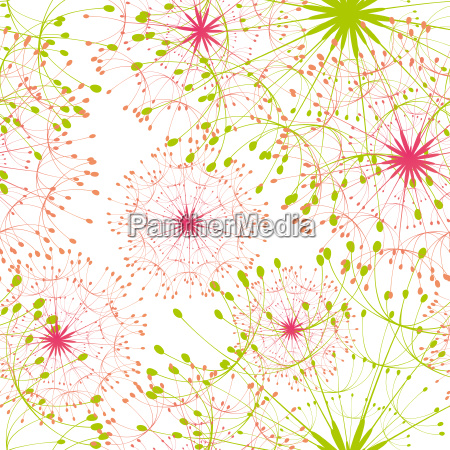 abstract colorful dandelion seamless pattern