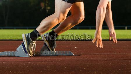 sprinter beim start
