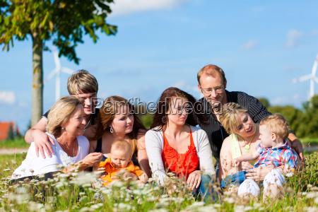 familie und mehrere generationen spass