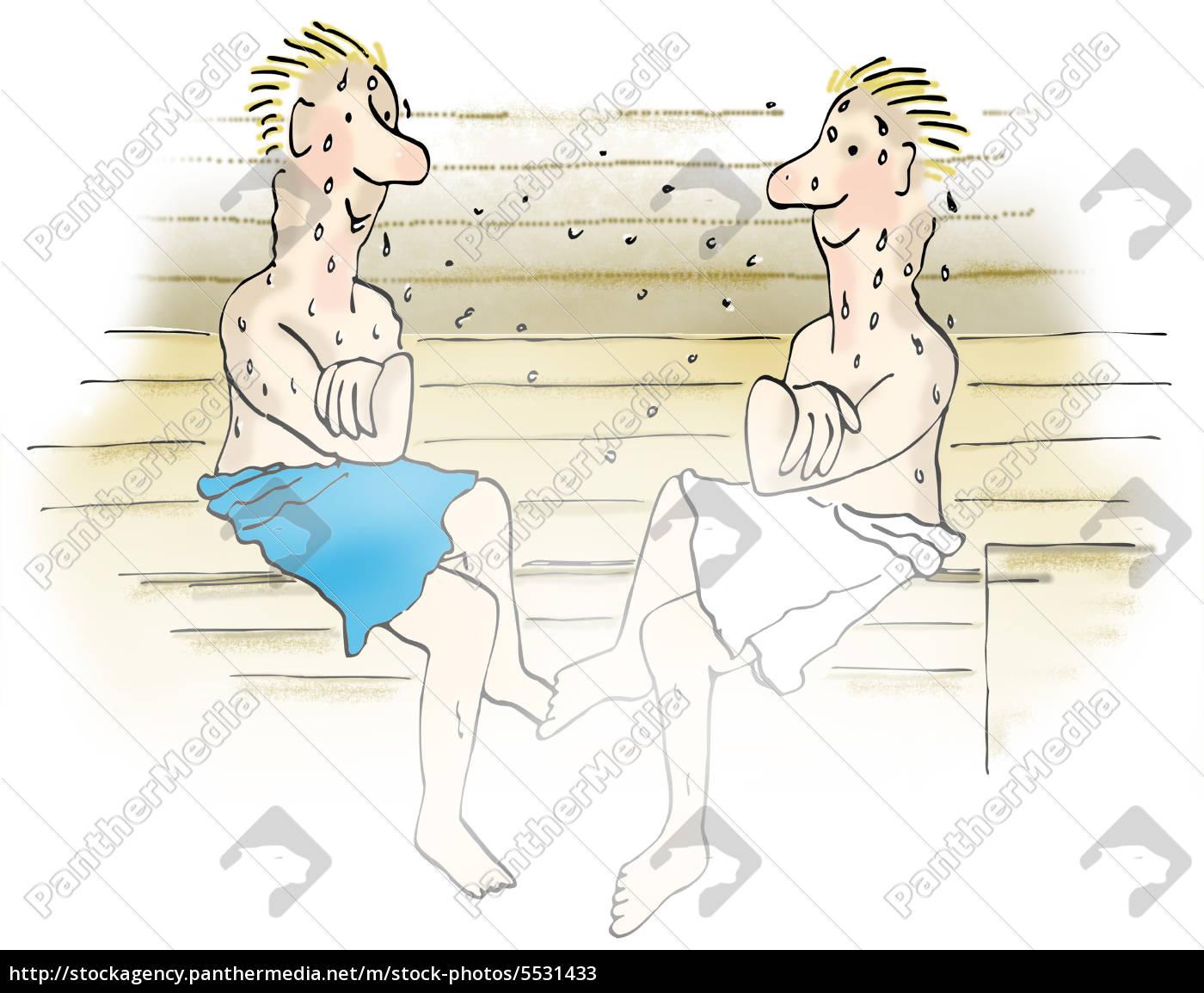 zwei m nner in der sauna stockfoto 5531433 bildagentur panthermedia. Black Bedroom Furniture Sets. Home Design Ideas