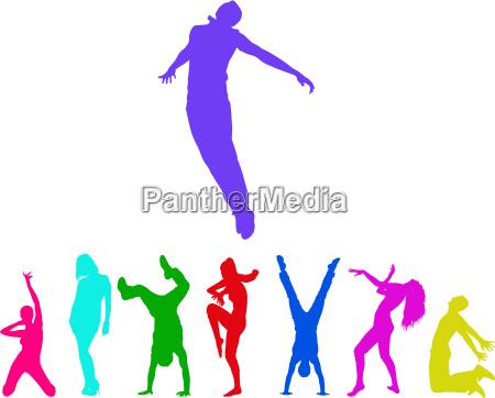 tanzende menschen isoliert