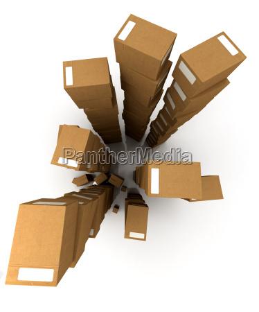 huge piles of parcels