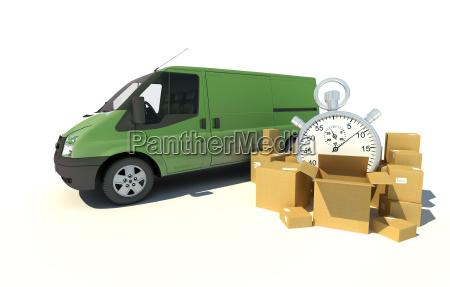 delivery van urgent transportation