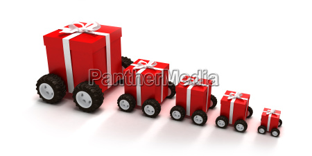 red gift boxes convoy