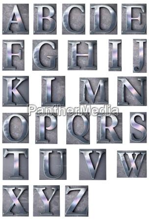 typoskript alphabet grossbuchstaben