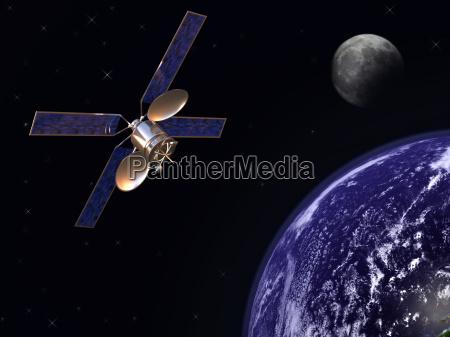 satelite in erdumlaufbahn
