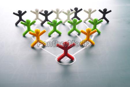 organisatorische unternehmens hierarchiediagramme eines unternehmens