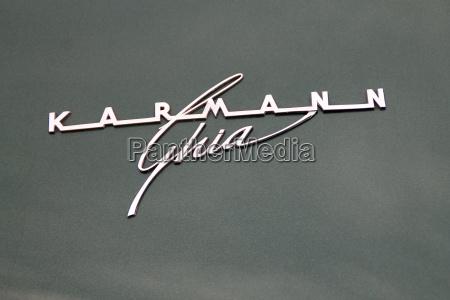 karmann ghia lettering
