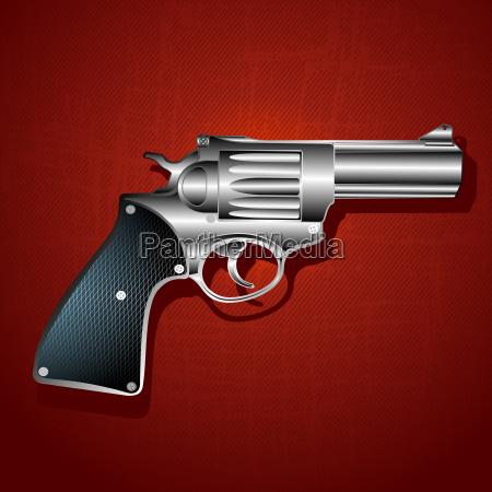 grunge hand gun background