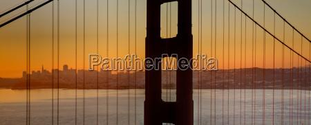 sunrise over san francisco bay through