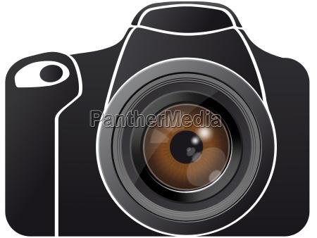 augenlinse auf fotokamera