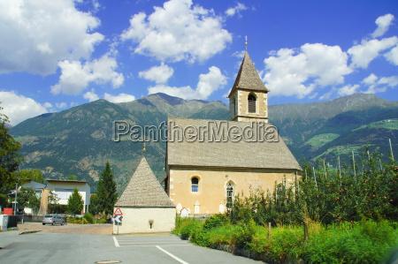 church in morter venosta